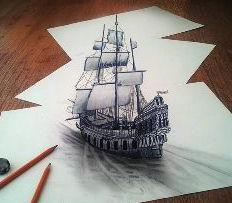 Как научиться рисовать 3d-рисунки на бумаге? Делаем 3d-рисунки карандашом на бумаге поэтапно