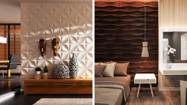 3D панели в дизайне квартиры