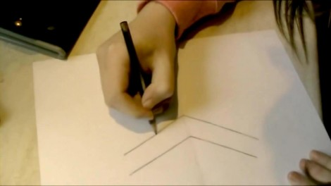 Как нарисовать 3d рисунок на бумаге карандашом 1