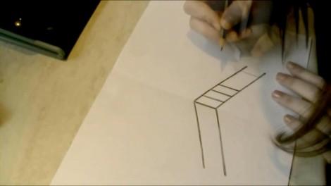 Как нарисовать 3d рисунок на бумаге карандашом 2