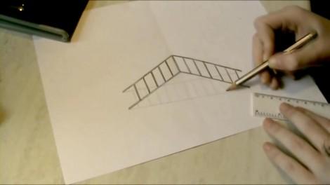 Как нарисовать 3d рисунок на бумаге карандашом 4