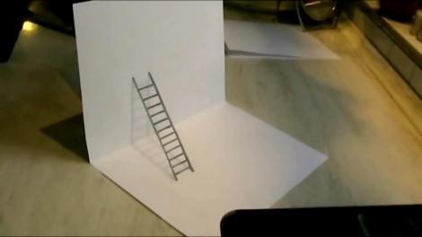 Как нарисовать 3d рисунок на бумаге карандашом 5